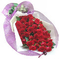 45 Fresh Red Roses Bouquet