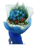 12 fresh Blue roses bouquet