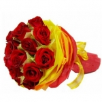 12 fresh red roses bouquet