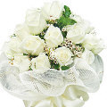 12 fresh white roses bouquet