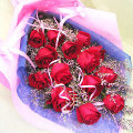 12 Red Rosess in Bouquet