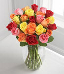 "24 Stem Mixed ""Petite"" Rose Bouquet with Vase"