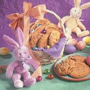 Easter gifts easter gift baskets flowers for delivery angeles 1 basket of yummy cookies w bunny negle Image collections