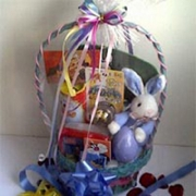Easter gifts easter gift baskets flowers for delivery angeles basket of various items with bunny negle Image collections