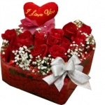 Rose Basket With Romantic Pillow